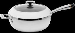 Chef`s Pot inklusive Deckel mit Bluetooth, ø 29,5 cm, mit hohem Rand 9,5 cm, Edelstahl, geeignet für Induktion von HESTAN CUE™ Chef`s Pot inklusive Deckel mit Bluetooth, ø 29,5 cm, mit hohem Rand 9,5 cm, Edelstahl